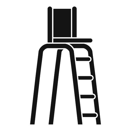 specify: Tennis tower for judges icon. Simple illustration of tennis tower for judges vector icon for web Illustration