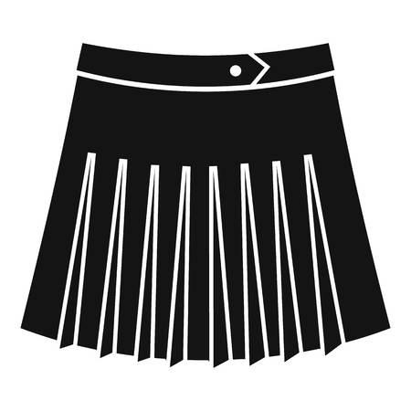 tennis skirt: Tennis female skirt icon. Simple illustration of tennis female skirt vector icon for web Illustration