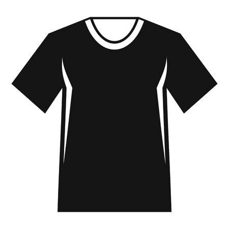 Men tennis t-shirt icon. Simple illustration of men tennis t-shirt vector icon for web Çizim