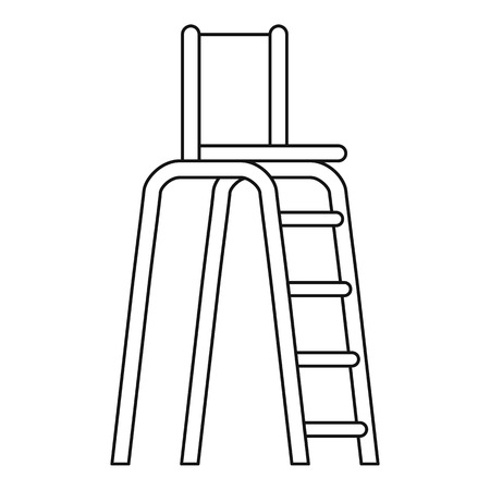 specify: Tennis tower for judges icon. Outline illustration of tennis tower for judges vector icon for web