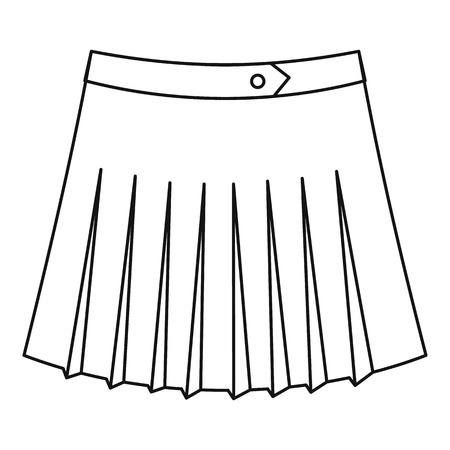 tennis skirt: Tennis female skirt icon. Outline illustration of tennis female skirt vector icon for web