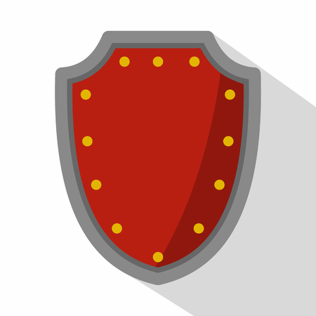 protective shield: Army protective shield icon. Flat illustration of army protective shield vector icon for web Illustration