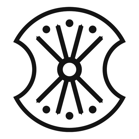 combatant: Wooden shield icon. Simple illustration of wooden shield vector icon for web
