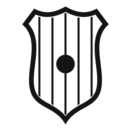 Protective shield icon. Simple illustration of protective shield vector icon for web