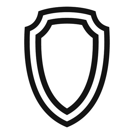 combatant: Army shield icon. Simple illustration of army shield vector icon for web