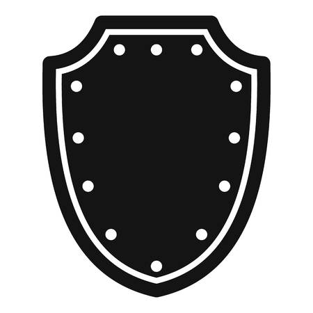 protective shield: Army protective shield icon. Simple illustration of army protective shield vector icon for web Illustration