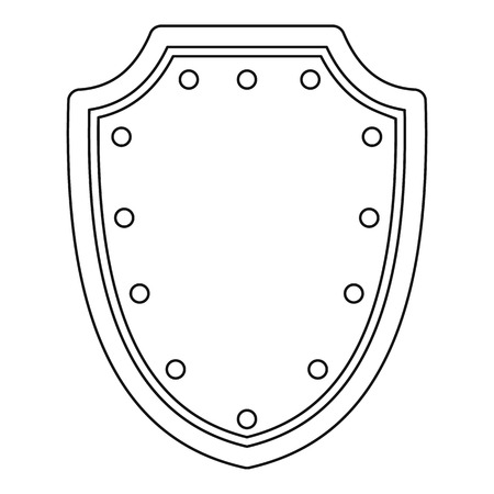 protective shield: Army protective shield icon. Outline illustration of army protective shield vector icon for web