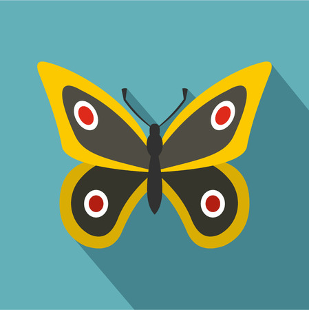 butterfly stroke: Little butterfly icon. Flat illustration of little butterfly vector icon for web Illustration