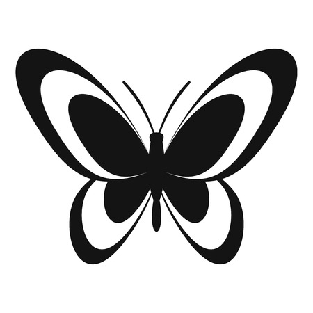 Butterfly icon. Simple illustration of butterfly vector icon for web Ilustração