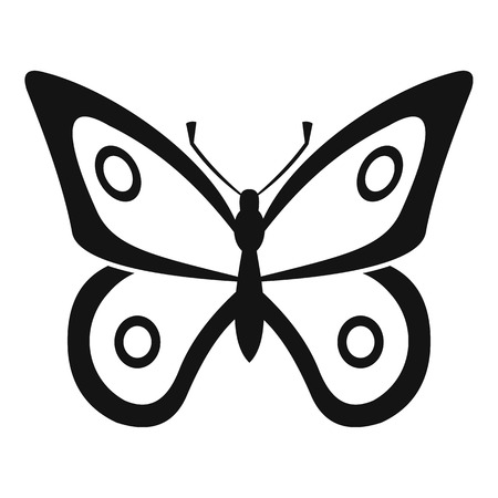 butterfly stroke: Little butterfly icon. Simple illustration of little butterfly vector icon for web