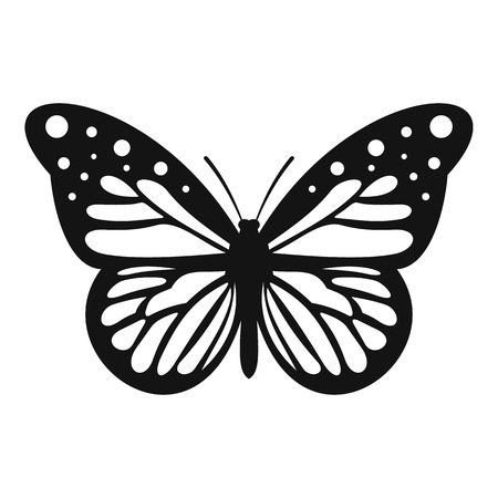 Big butterfly icon. Simple illustration of big butterfly vector icon for web 免版税图像 - 64840669