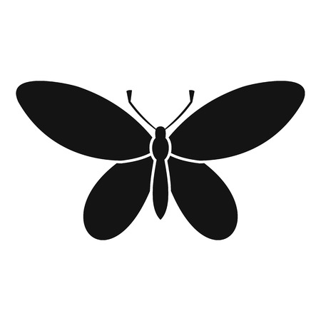 Butterfly with antennae icon. Simple illustration of butterfly with antennae vector icon for web