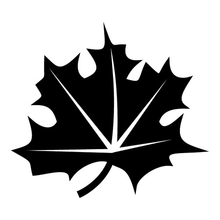 canadian maple leaf: Canadian maple leaf icon. Simple illustration of canadian maple leaf vector icon for web