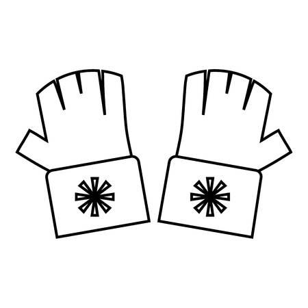 fingerless gloves: Fingerless gloves icon. Outline illustration of fingerless gloves vector icon for web