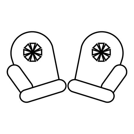 mittens: Mittens Santa icon. Outline illustration of mittens Santa vector icon for web