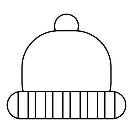 knitten: Hat icon. Outline illustration of hat vector icon for web