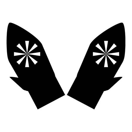 mittens: Mittens with snowflake icon. Simple illustration of mittens with snowflake vector icon for web Illustration