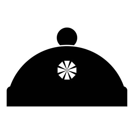 knitten: Winter hat icon. Simple illustration of winter hat vector icon for web Illustration