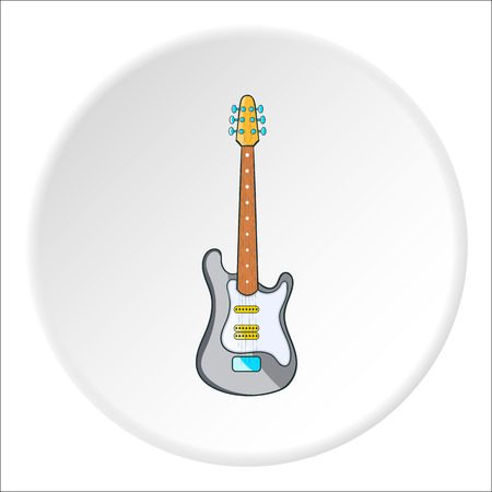 Electric guitar icon. Cartoon illustration of electric guitar vector icon for web