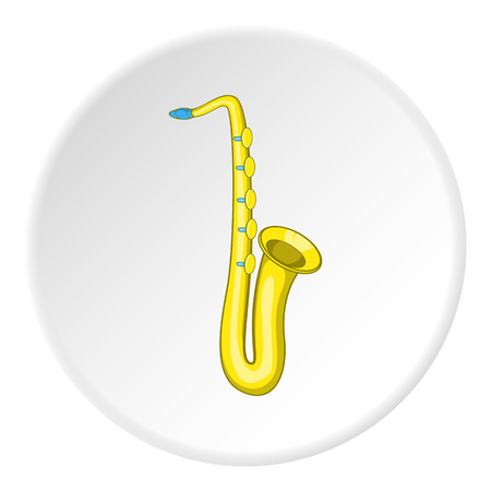 Saxophone icon. Cartoon illustration of saxophone vector icon for web