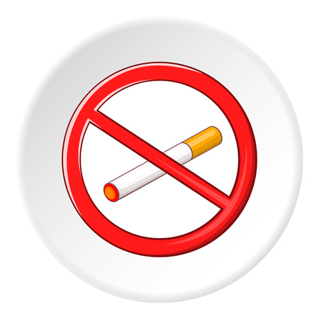No smoking sign icon. Cartoon illustration of no smoking sign vector icon for web