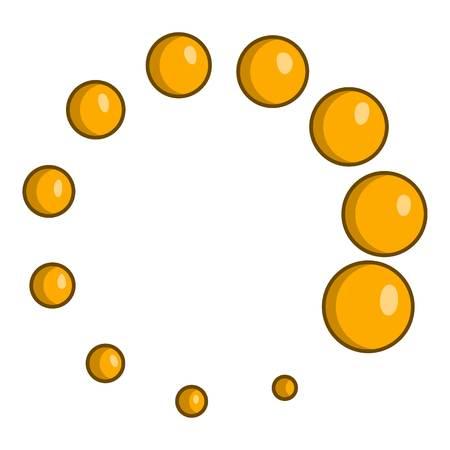 Click circle icon. Cartoon illustration of click vector icon for web design