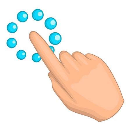 Hand click cursor icon. Cartoon illustration of cursor vector icon for web design