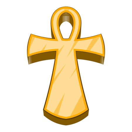 pagan cross: Egyptian ankh icon. Cartoon illustration of ankh vector icon for web design