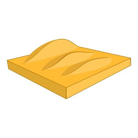 desert sand: Desert sand dunes icon. Cartoon illustration of dunes vector icon for web design Illustration