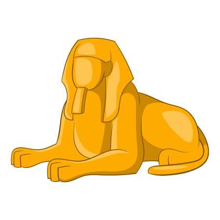 icono de la esfinge. Ilustración de dibujos animados de vectores icono de la esfinge para el diseño web