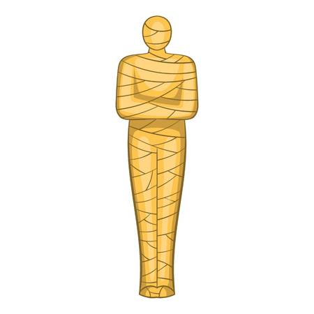 intimidate: Ancient mummy icon. Cartoon illustration of mummy vector icon for web design Illustration