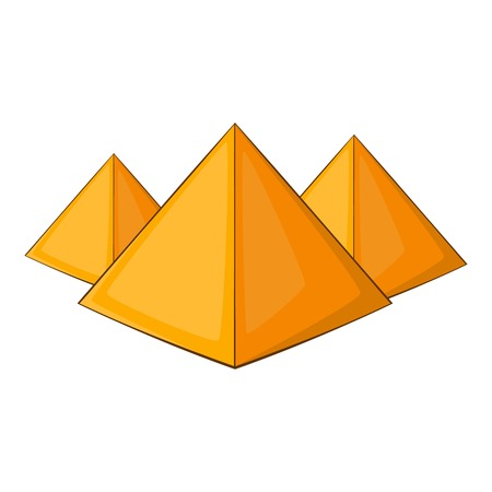 khufu: Egyptian pyramids icon. Cartoon illustration of pyramids vector icon for web design Illustration