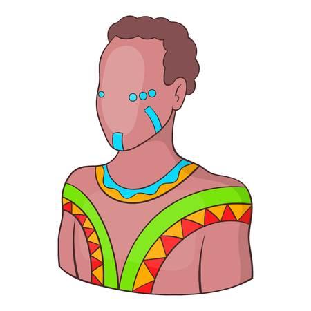 aborigine: Australian aborigine icon. Cartoon illustration of australian aborigine vector icon for web design