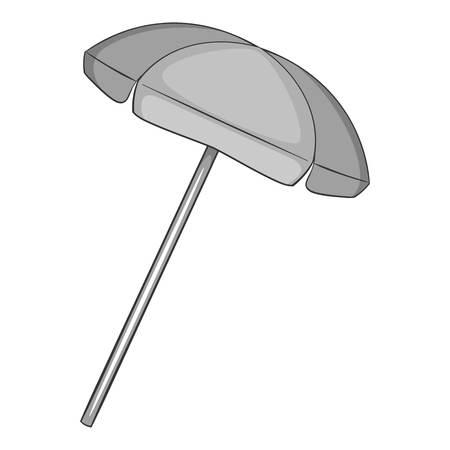 reclining: Beach umbrella icon. Gray monochrome illustration of beach umbrella vector icon for web design Illustration