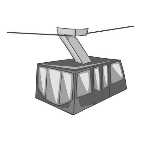 Istanbul tram icon. Gray monochrome illustration of tram vector icon for web design Ilustrace