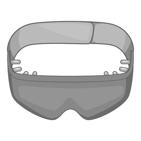 Sleeping mask icon. Gray monochrome illustration of mask vector icon for web design