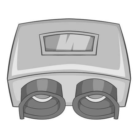 healthier: Eye checking machine icon. Gray monochrome illustration of eye checking machine vector icon for web design
