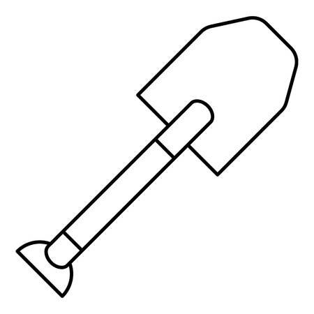 spade: Spade icon. Outline illustration of spade vector icon for web