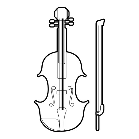 contrabass: Contrabass icon. Outline illustration of contrabass vector icon for web