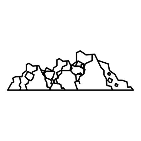 地面のアイコン。Web の地面ベクトル アイコンの概要図 写真素材 - 64850376