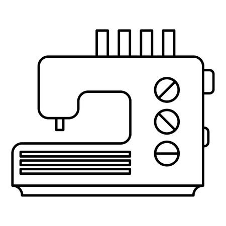 treadle: Sewing machine icon. Outline illustration of sewing machine vector icon for web
