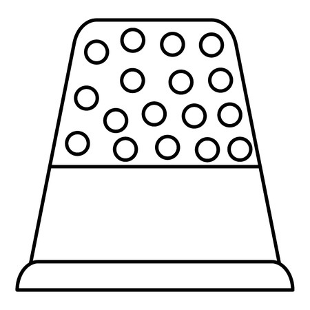 thimble: Thimble icon. Outline illustration of thimble vector icon for web