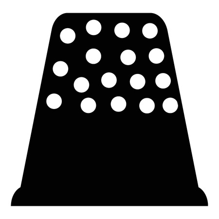 thimble: Thimble icon. Simple illustration of thimble vector icon for web Illustration