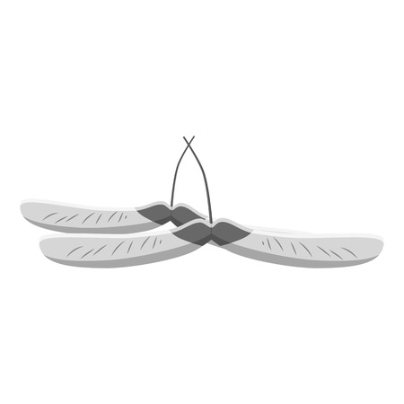 reproduce: Maple seed icon. Gray monochrome illustration of maple seeds vector icon for web