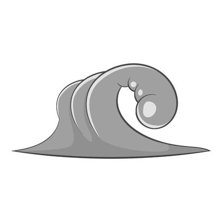 granola: icono de olas grandes. Ilustración de dibujos animados de gran icono de vector de onda para la web