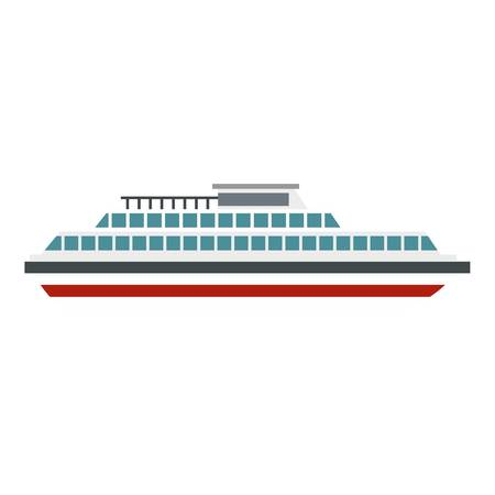Steamship icon. Flat illustration of steamship vector icon for web
