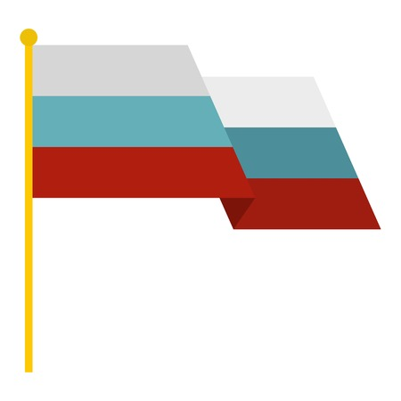 russian flag: Russian flag icon. Flat illustration of russian flag vector icon for web Illustration