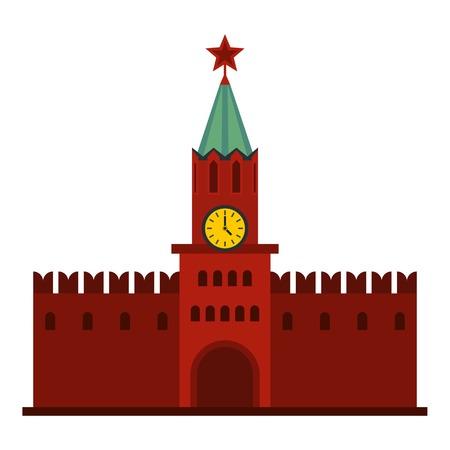Kremlin icon. Flat illustration of kremlin wave vector icon for web