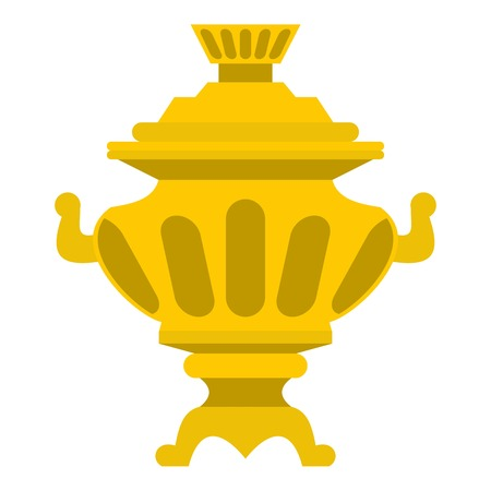 souvenir: Samovar icon. Flat illustration of samovar vector icon for web Illustration