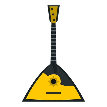 balalaika: Balalaika icon. Flat illustration of balalaika vector icon for web